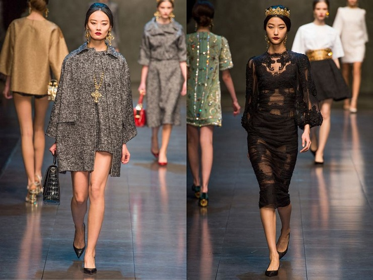 Milan Fashion Week: Dolce & Gabbana Li Xiao Xing Ji Hye Park Dolce Gabbana Fall 2013
