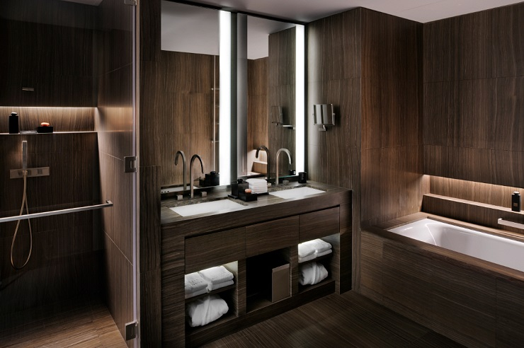 Armani Hotel Dubai Armani Hotel Dubai bathroom wooden