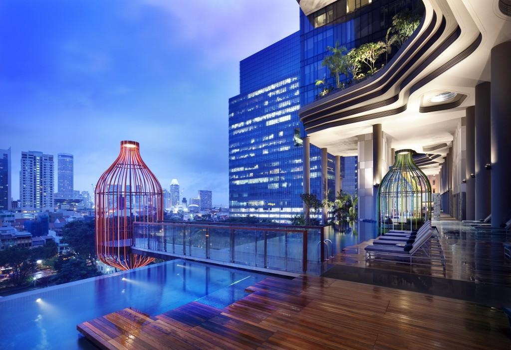 """""""Hotel e ristoranti di lusso_ParkRoyal_WOHA architetti""""  Hotel e ristoranti di lusso: Top 2013 Interni Hotel e ristoranti di lusso ParkRoyal WOHA architetti"""