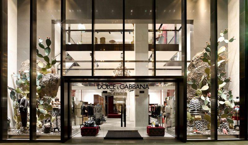 Saks Fifth Avenue exibe D&G i Koket