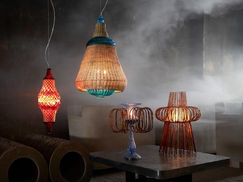 'fusione' collezione di illuminazione da Fernando e Humberto Campana  Dramma a ICFF! Belle lampade di Baccarat & Campana Brothers fusion01