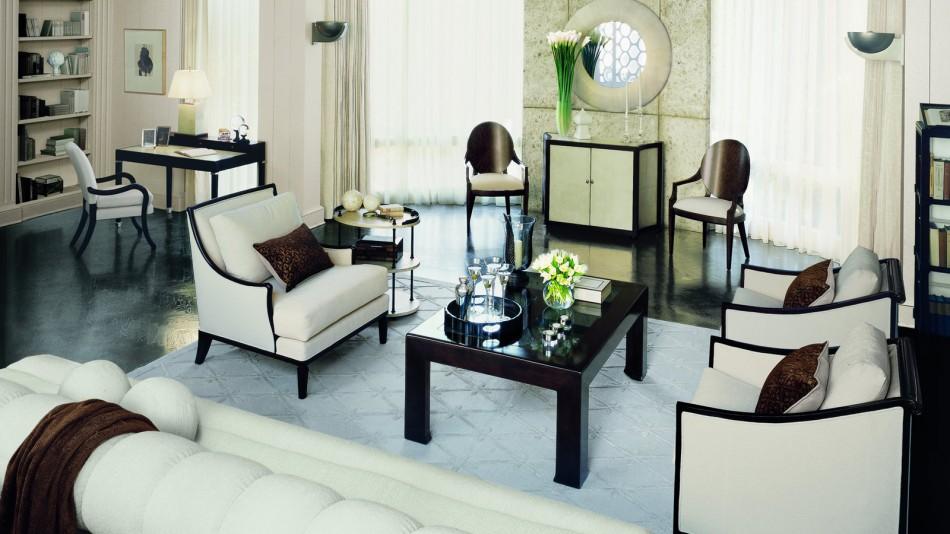 Great Gastby: soggiorno, elementi essenziali di design d'interni