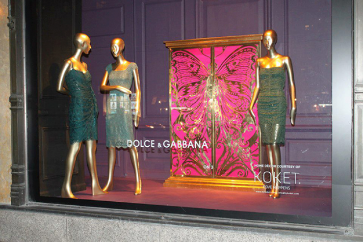 Saks Fifth Avenue exibe D&G i Koket  Saks Fifth Avenue exibe D&G i Koket koket 1 e1368460939954
