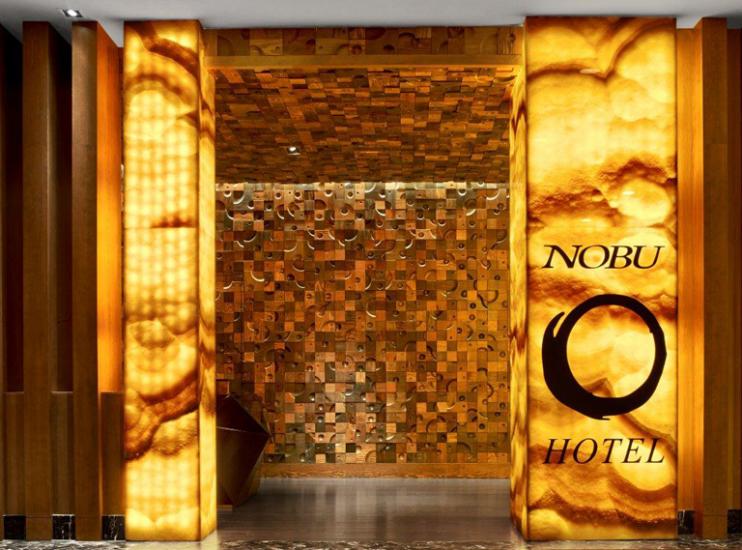 Nobu Hotel Caesars Palace  Rockwell Group, hanno il segreto per illuminare il tuo mondo Nobu Hotel Caesars Palace Reception 7 743x550