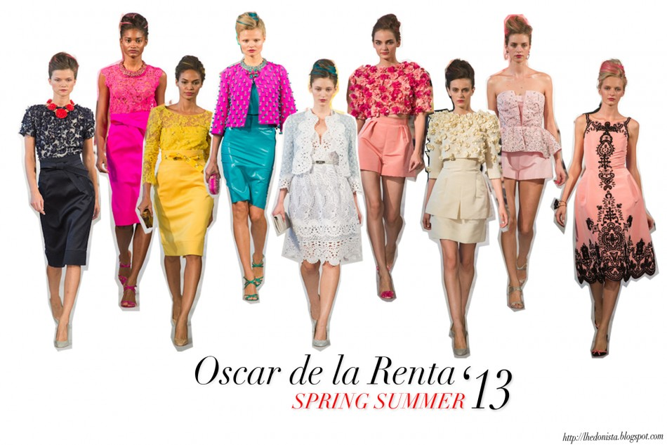 OSCAR DE LA RENTA Primavera 2013 collezioni