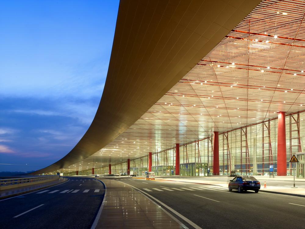 Beijing airport Norman Foster Felice 78 ° Compleanno Sir Norman Foster beijing airport 1