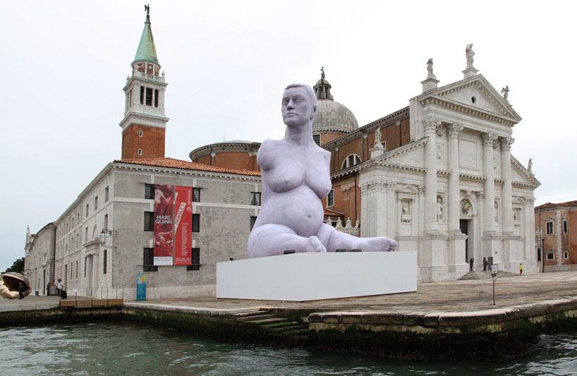 Marc Quin, Fondazioni Querini Stampalia Venice  Arte Biennale di Venezia 2013, migliori mostre della settimana marc quinn alison lapper pregnant designboom 02