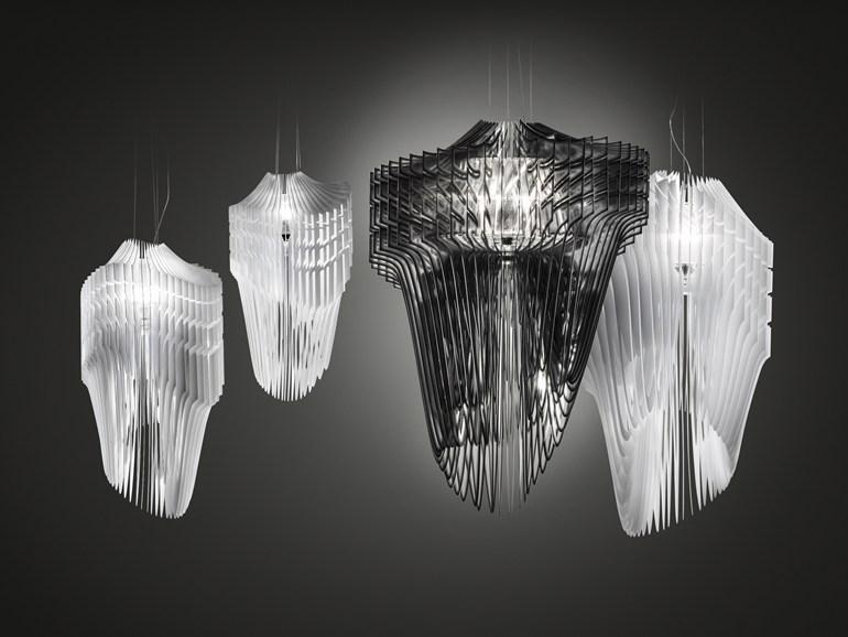 Slamp | Aria Collezione | Zaha Hadid Illuminazione di Sospensione Migliori marchi, Nuova Illuminazione di Sospensione Slamp collection Zaha Hadid