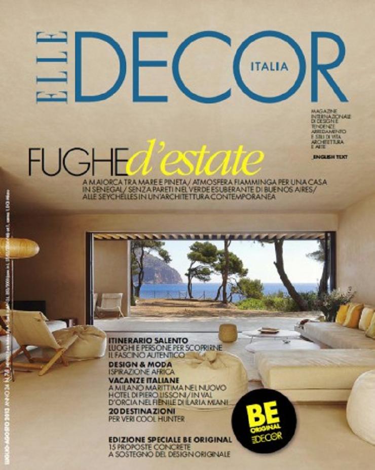 Top Riviste Italiane di Interior Design e Moda elle decor italia luglio agosto 2013