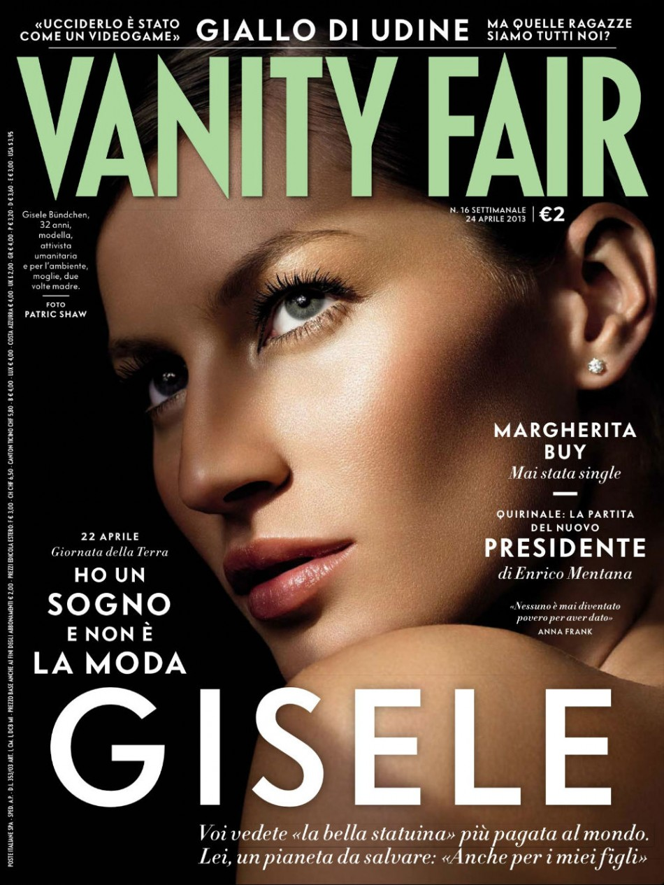 Top Riviste Italiane di Interior Design e Moda Gisele cover vanity fair Italy 2013 e1375358193907