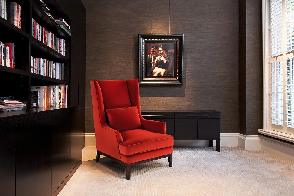 Riconoscere Qualità nella Tappezzeria, mobili moderni progettisti Mobili Moderni Riconoscere Qualità nella Tappezzeria, mobili moderni progettisti Red Armchair Upholstery