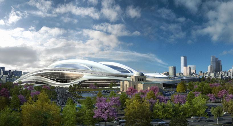 Il Nuovo Stadio Nazionale del Giappone sarà la sede per Tokyo 2020 Giochi Olimpici e Paralimpici. Questo stadio ospiterà le gare di atletica leggera e cerimonie di apertura e di chiusura del Tokyo 2020 Giochi Olimpici e Paralimpici.  Zaha Hadid: nuovo stadio nazionale in Giappone,Olimpiadi Tokyo 2020 zaha hadid new national stadium of japan venue for tokyo 2020 olympics designboom 01