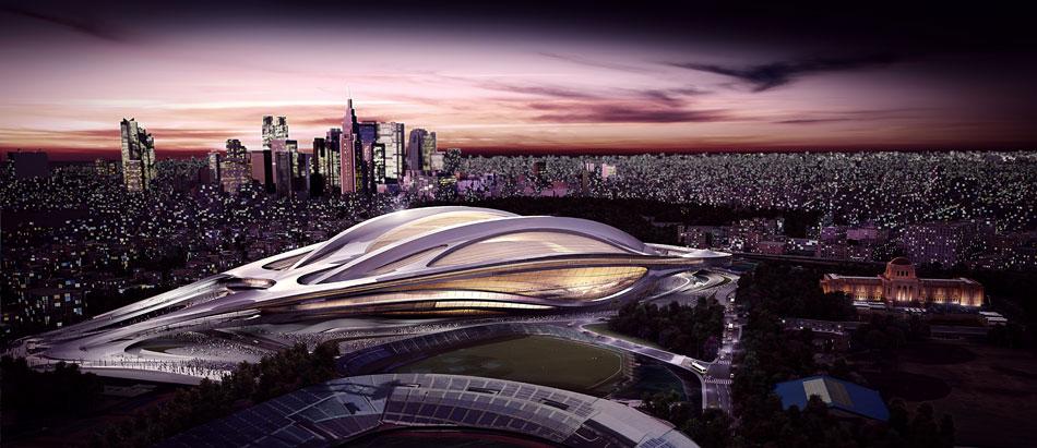 Zaha Hadid: nuovo stadio nazionale in Giappone,Olimpiadi Tokyo 2020 zaha hadid new national stadium of japan venue for tokyo 2020 olympics designboom 04 2