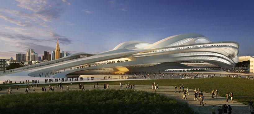 Il Nuovo Stadio Nazionale del Giappone sarà la sede per Tokyo 2020 Giochi Olimpici e Paralimpici. Questo stadio ospiterà le gare di atletica leggera e cerimonie di apertura e di chiusura del Tokyo 2020 Giochi Olimpici e Paralimpici.  Zaha Hadid: nuovo stadio nazionale in Giappone,Olimpiadi Tokyo 2020 zaha hadid new national stadium of japan venue for tokyo 2020 olympics designboom 05