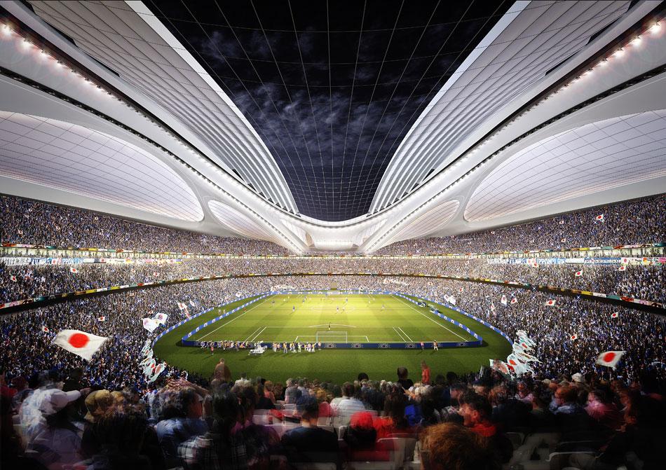 Il Nuovo Stadio Nazionale del Giappone sarà la sede per Tokyo 2020 Giochi Olimpici e Paralimpici. Questo stadio ospiterà le gare di atletica leggera e cerimonie di apertura e di chiusura del Tokyo 2020 Giochi Olimpici e Paralimpici.  Zaha Hadid: nuovo stadio nazionale in Giappone,Olimpiadi Tokyo 2020 zaha hadid new national stadium of japan venue for tokyo 2020 olympics designboom 06