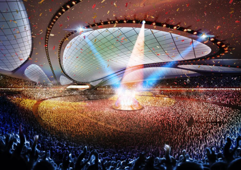 Il Nuovo Stadio Nazionale del Giappone sarà la sede per Tokyo 2020 Giochi Olimpici e Paralimpici. Questo stadio ospiterà le gare di atletica leggera e cerimonie di apertura e di chiusura del Tokyo 2020 Giochi Olimpici e Paralimpici.  Zaha Hadid: nuovo stadio nazionale in Giappone,Olimpiadi Tokyo 2020 zaha hadid new national stadium of japan venue for tokyo 2020 olympics designboom 07
