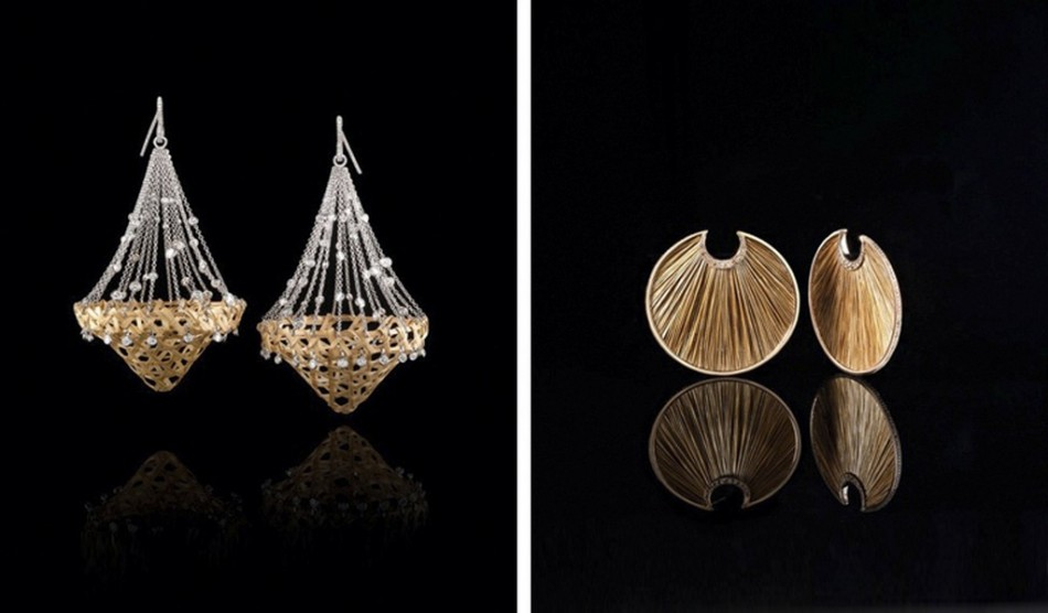 """Lost splendour' and 'Omo' earrings""  The Campana Brothers e Fabio Salini, lussuosa linea di gioielli ""Dangerous Luxury"" The Campana Brothers e Fabio Salini lussuosa linea di gioielli Dangerous Luxury 1 e1381929276278"