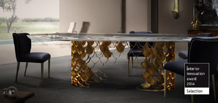 """""""Brabbu - interior innovation award 2014 - KOI Tavolo""""  Marchi di lusso da vedere fuori in IMM e M&O 2014 Marchi di lusso da vedere fuori in IMM e MO 2014 Brabbu koi dining table interior innovation award 2014"""