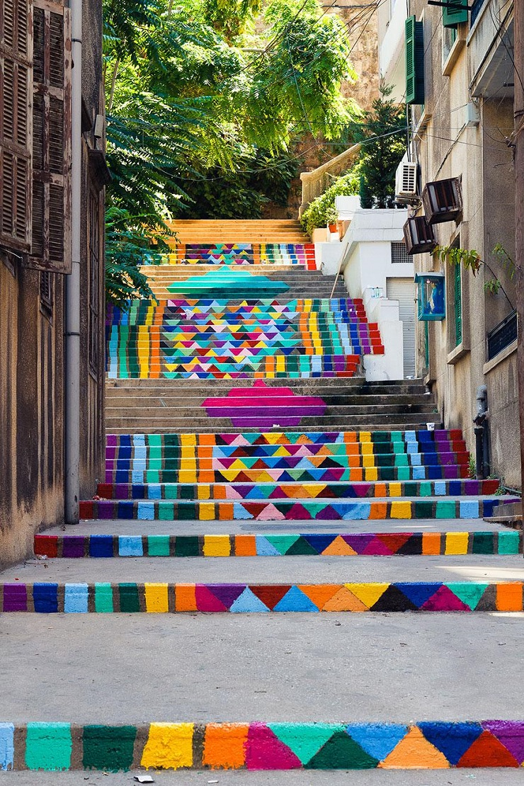 """""""17 delle più belle scale in tutto il mondo - Beirut, Lebanon 2""""  Il nostro articolo più popolare – 17 delle più belle scale in tutto il mondo 17 delle pi   belle scale in tutto il mondo Beirut Lebanon 2"""