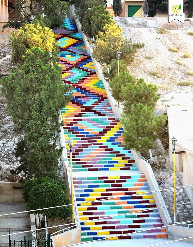 """""""17 delle più belle scale in tutto il mondo - Stairs of Peace in Syria""""  Il nostro articolo più popolare - 17 delle più belle scale in tutto il mondo 17 delle pi   belle scale in tutto il mondo Stairs of Peace in Syria"""