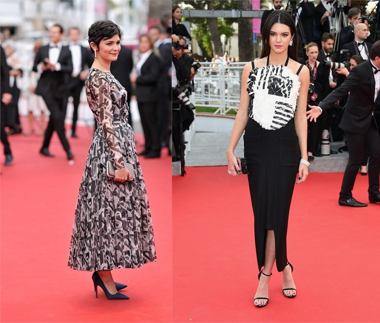 """""""Gli outfit più belli dal Festival di Cannes 2014 - Audrey Tautou and Kendall Jenner"""""""