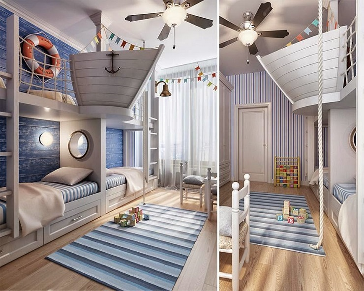 Sogni d oro 10 idee di design di camere da letto per i bambini spazi di lusso - Jarige jongenskamer ...