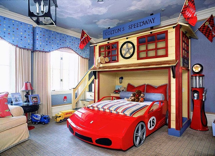"""""""Sogni d'Oro - 10 Idee di design di camere da letto per i bambini - Mondo delle auto""""  Sogni d'Oro: 10 Idee di design di camere da letto per i bambini Sogni dOro 10 Idee di design di camere da letto per i bambini machina"""