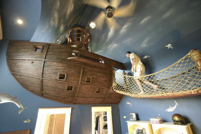 Idee di design idee di design Sogni d'Oro: 10 Idee di design di camere da letto per bambini decoration chambre enfant pirate
