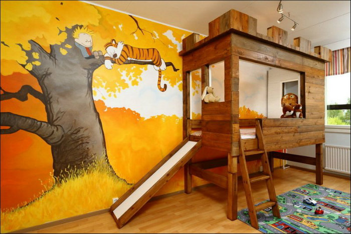 idee di design Sogni d'Oro: 10 Idee di design di camere da letto per bambini zabavnoe foto 35