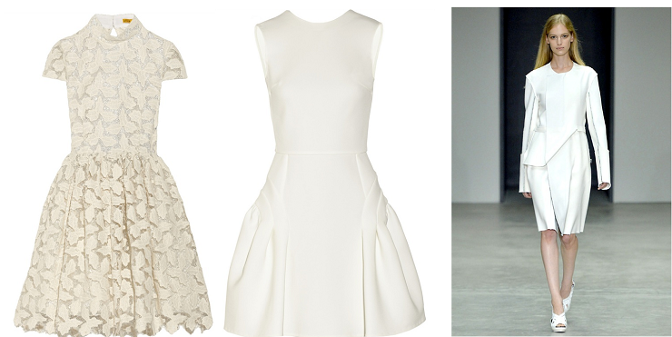 """""""Tendenze: tutti in bianco - Alice+Olivia, Miu Miu e Calvin Klein""""  Tendenze: tutti in bianco Alice Olivia Miu Miu e Calvin Klein"""