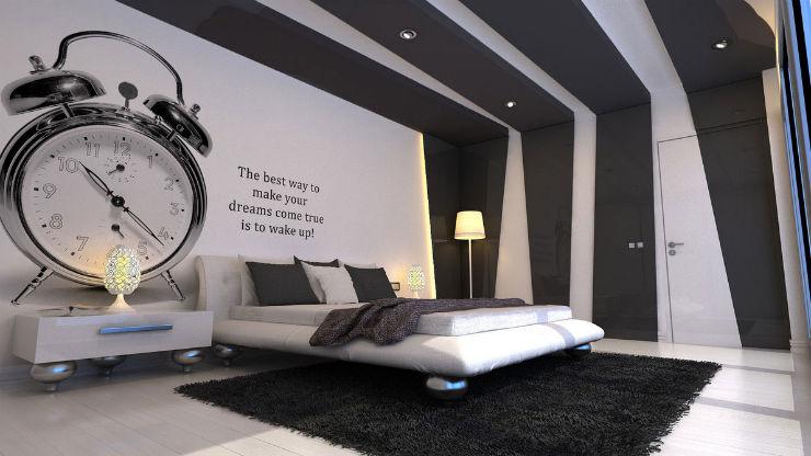 camere da letto Camere da letto in stile Cinquanta Sfumature di Grigio Cinquanta Sfumature di Grigio decor della camera letto ispirata al film