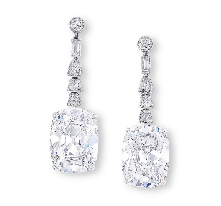 I regali di Natale più lussuosi - Orecchini di diamanti Golconda  I regali di Natale più lussuosi I regali di Natale pi   lussuosi Orecchini di diamanti Golconda