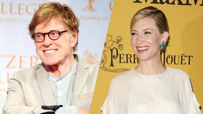 RobertRedford e Cate Blanchett  La Festa del Cinema di Roma: 10 anniversario con Cate Blanchett RobertRedford e Cate Blanchett