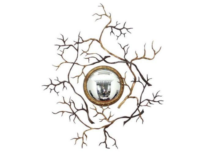 """mobili design  100 Idee Di Arredi 100 Idee Di Arredi """"Limited Edition"""" Assolutamente Da Vedere Branches Bull   s eye mirror"""