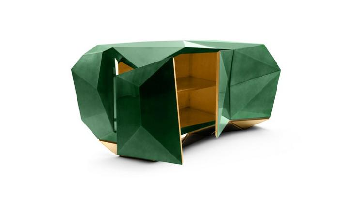 """credenza, diamond_emerald_01 100 Idee Di Arredi 100 Idee Di Arredi """"Limited Edition"""" Assolutamente Da Vedere diamond emerald 01"""