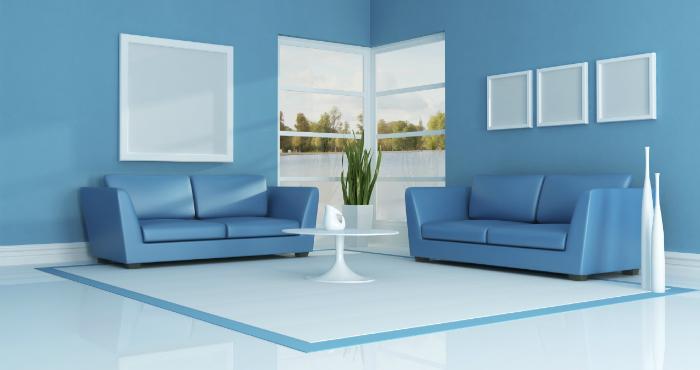 5 consigli d'arredo per un salotto blu