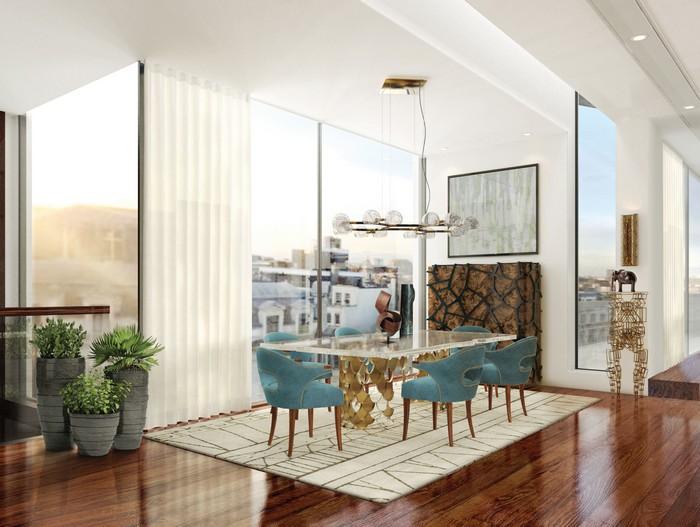 25 idee per la vostra sala da pranzo moderna spazi di lusso page 5 - Lampadario sala da pranzo moderna ...