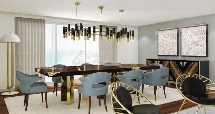 25 idee per la vostra sala da pranzo moderna spazi di lusso for Disposizione salotto sala pranzo