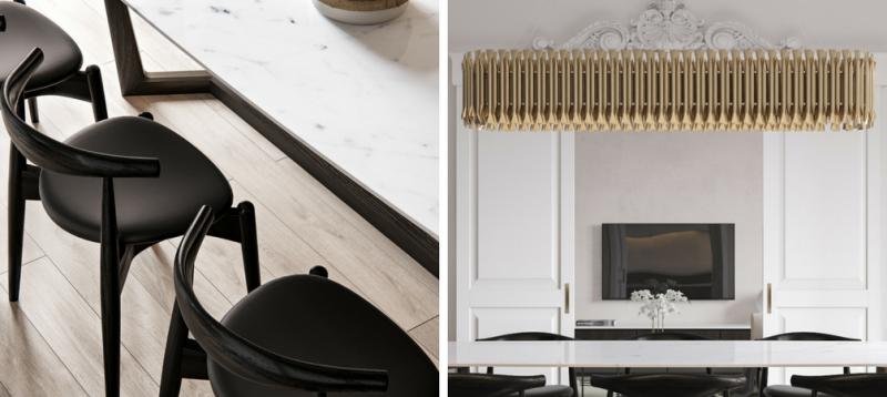 Bianco, oro e classico due progetti di interior design che adorerai