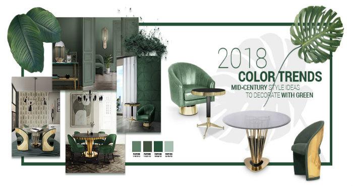 Il colore trend del 2018.arredi verde per la tua casa anni '50