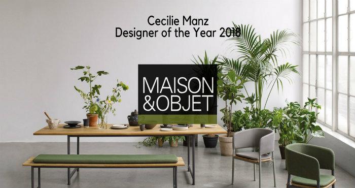 Maison et Objet 2018-Cecilie Manz eletta designer dell'anno