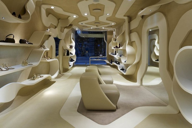 boutique boutique Le Boutique di Lusso in Italia progettate da famosi architetti luxury shoe store 31
