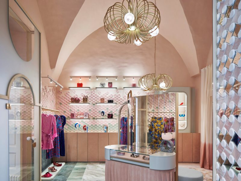 boutique boutique Le Boutique di Lusso in Italia progettate da famosi architetti pink 800x600