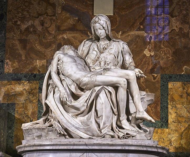 marmi di carrara Marmi di Carrara: algida eleganza 724px Michelangelos Piet   St Peters Basilica 1498   99